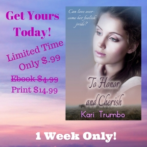 To Honor and Cherish Sale Kari Trumbo